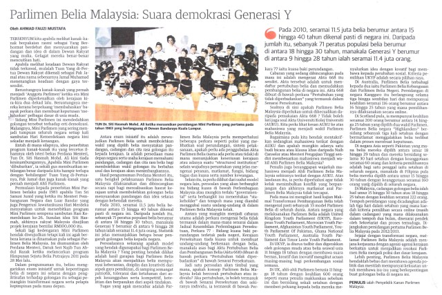 Parlimen Belia Malaysia Suara demokrasi Generasi Y