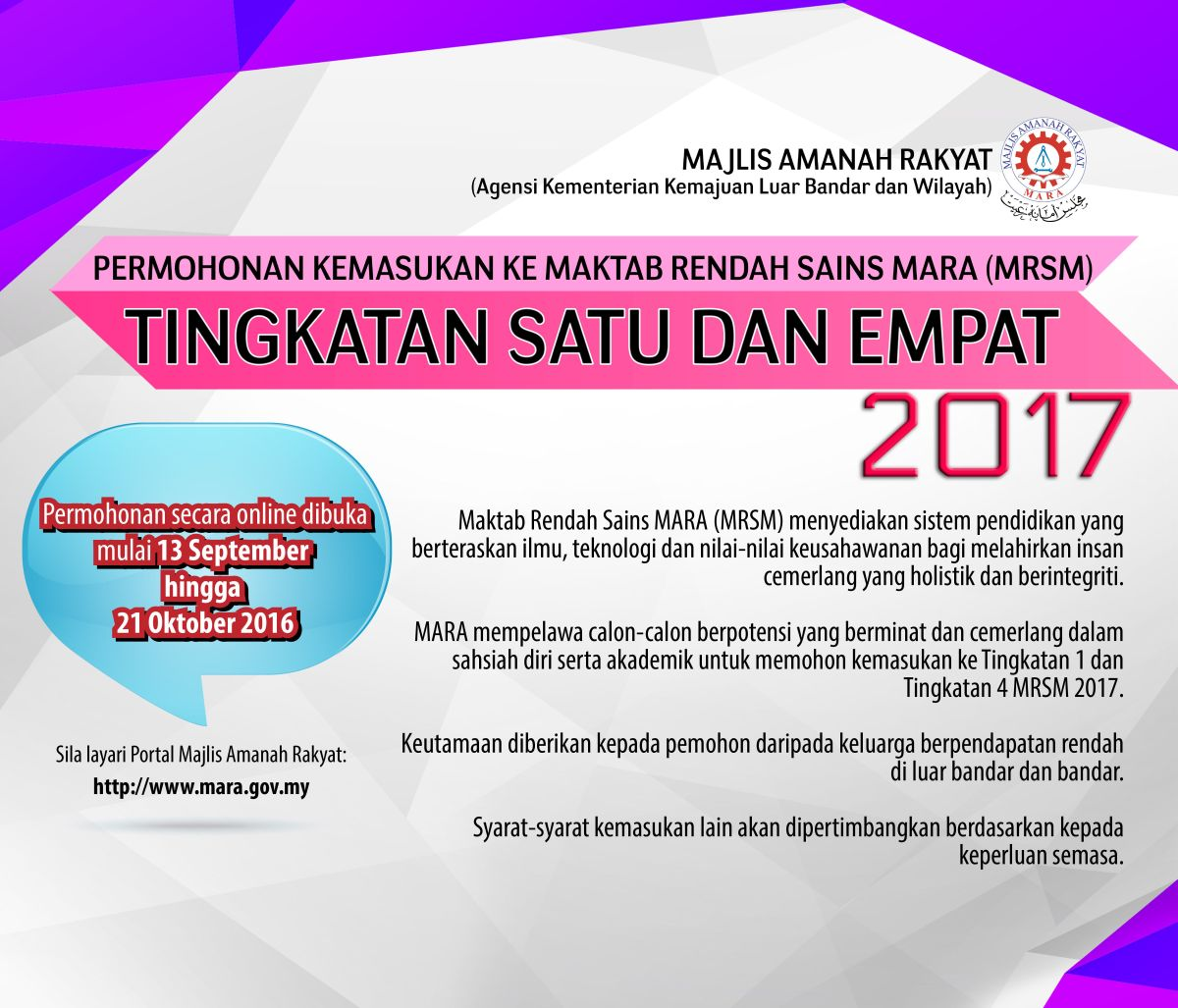 Image result for iklan mrsm 2017