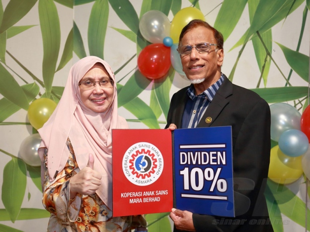 ASMARA mengumumkan dividen sebanyak 10 peratus untuk tahun kewangan berakhir 29 Februari 2016.