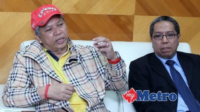 ANNUAR (kiri) ketika sidang media. Turut hadir, Ketua Pegawai Pelaburan MARA Inc, Khairul Azizi Ismail (kanan). FOTO YAzit Razali