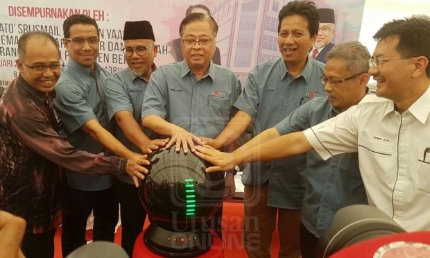 MENTERI Kemajuan Luar Bandar dan Wilayah, Datuk Seri Ismail Sabri Yaakob melancarkan Akademi Keusahawanan KPTM di Bera, Pahang hari ini.- UTUSAN ONLINE